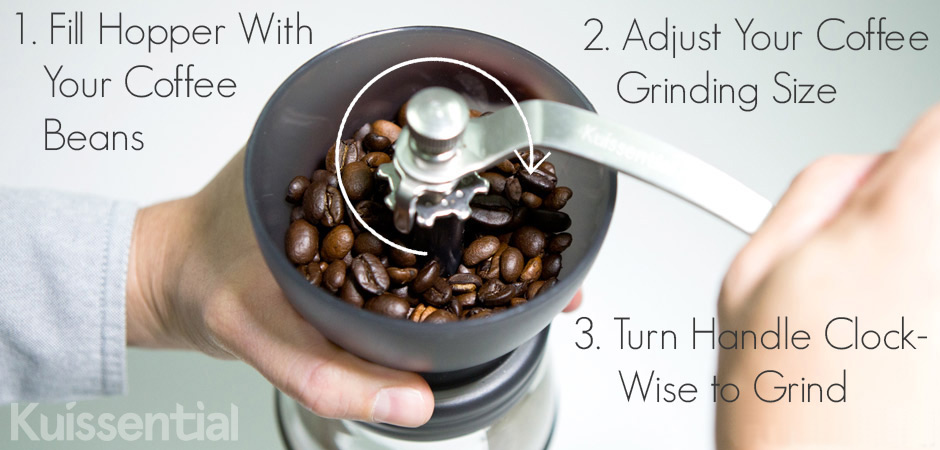 Kuissential Coffee Grinder Grinding Adjustment