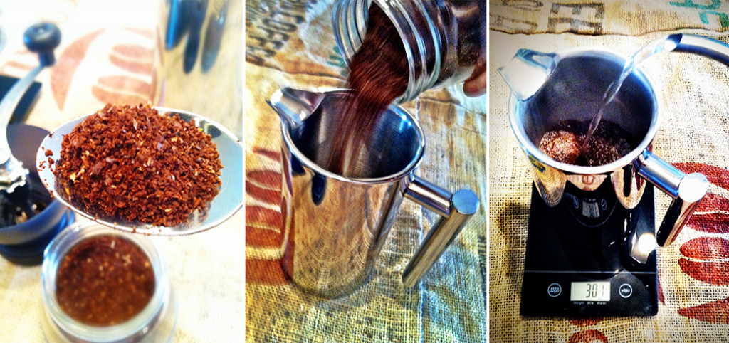 French Press Coffee Grounds Image